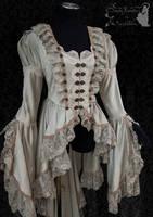 victorian steampunk art nouveau waistcoat by SomniaRomantica