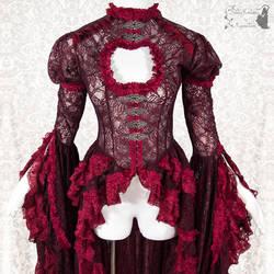 Burgundy waistcoat lace, somnia romantica