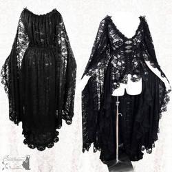 cape dress lace somnia romantica by SomniaRomantica