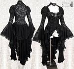Black Robe lace waistcoat, Somnia Romantica