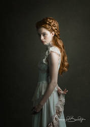Art Nouveau inspired gown, romantic photography by by SomniaRomantica