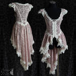dusty pink lace over dress