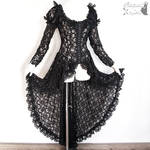 black lace robe waistcoat goth gothic victorian