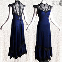 Dress indigo, Art Nouveau, Somnia Romantica by SomniaRomantica