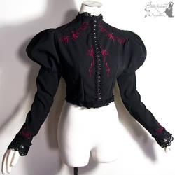 Bolero black with red embroidery, Somnia Romantica by SomniaRomantica