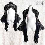 Black lace shrug goth gothic victorian lace yey