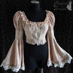 Romantic Victorian Art Nouveau bolero jacket by SomniaRomantica