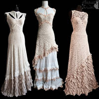 compilation of light gowns, Somnia Romantica by SomniaRomantica