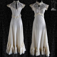 Gown Art Nouveau 30s baroque regal