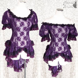 Victorian inspired purple lace top,SomniaRomantica