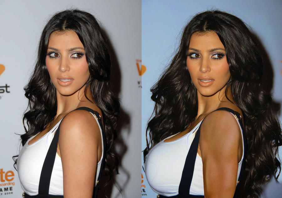 Kim Kardashian Muscle Growth by WIZZLE11