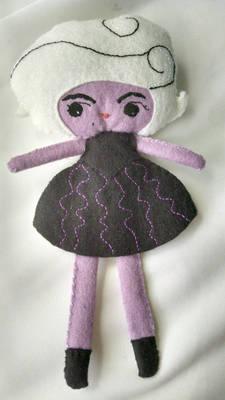 Ursula wool felt doll