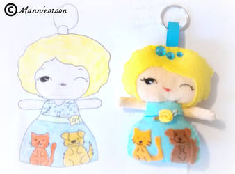 Animal Shelter Fundraiser Doll Keychain Plushie by behappy1990