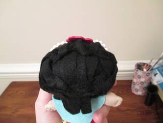 Frida Kahlo Display Plushie Back-hair shot
