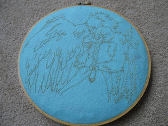 Sophie and Howl Embroidery Hoop