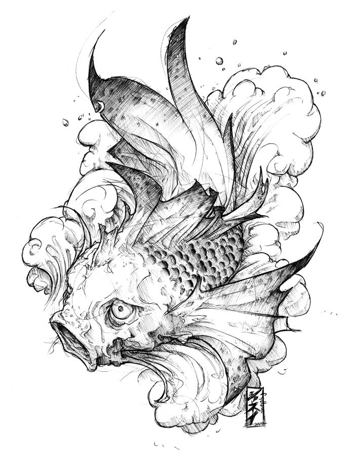 tattoo : koi ichi by fydbac on DeviantArt