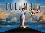 the girls fly by the Columbia logo