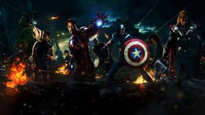 Darkened Avengers Wallpaper