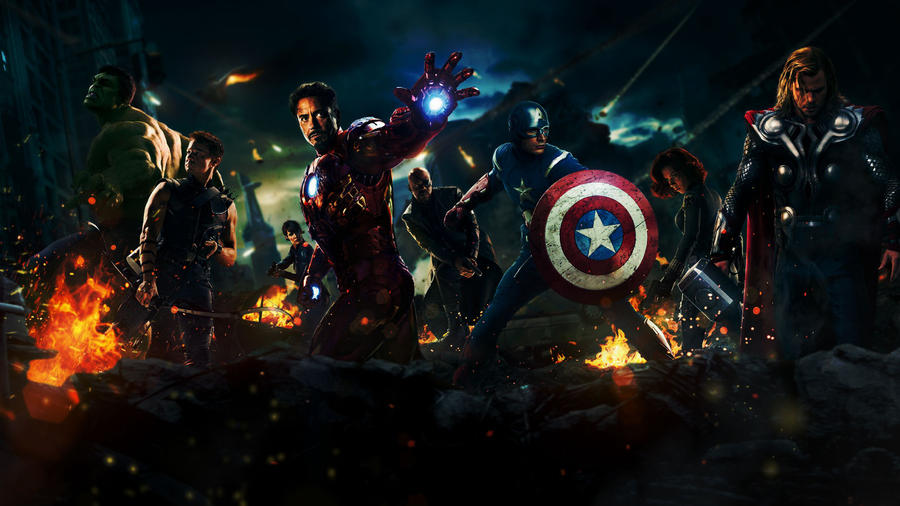 Darkened Avengers Wallpaper by MidnightIvy13 on DeviantArt