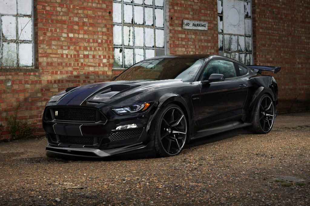 2018 My Ford Mustang Shelby Gt500 Black Large By Jhonconnor