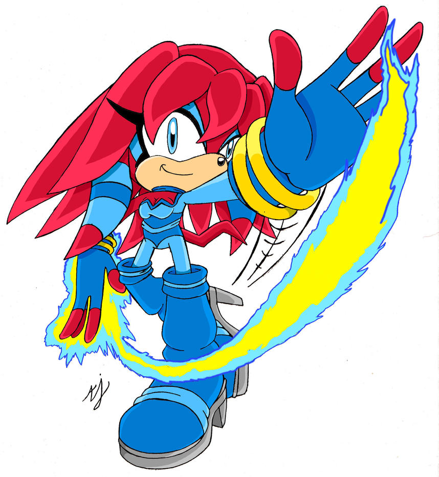Sky the Echidna by AndiOcelot