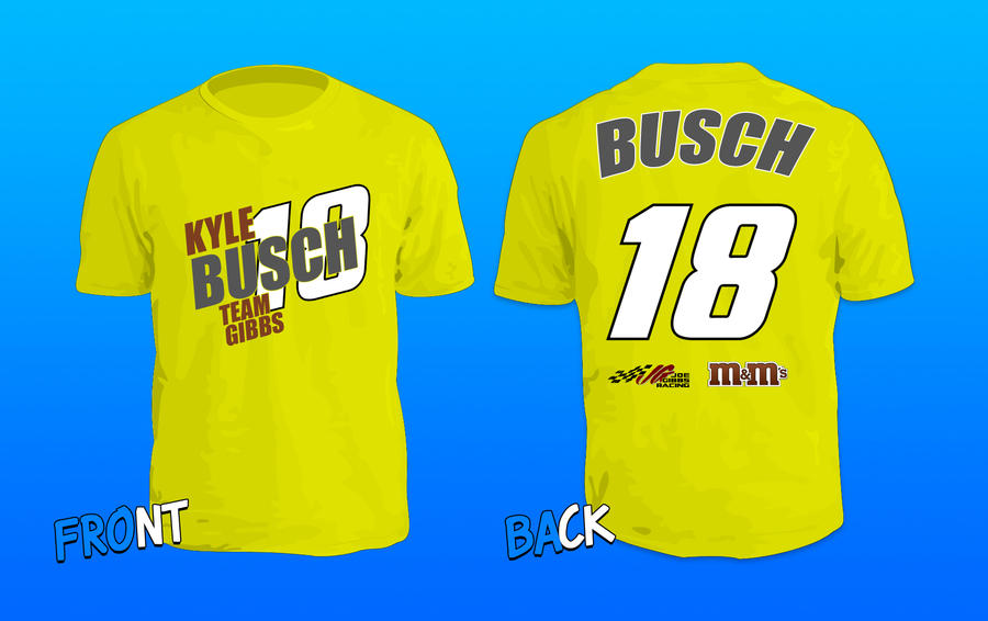 Kyle Busch Team Gibbs T Shirt Design By Wincclothing On