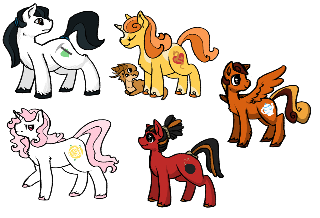 Pony Group 1 by Coloursfall