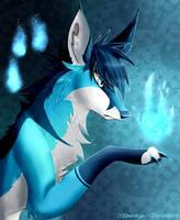 .: Aniki Light Kitsune - Blue Fire - Redraw :. by SnexMy