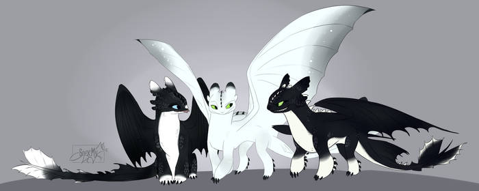 Night Lights Children of Toothless Adults - Httyd
