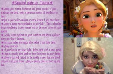 Rapunzel Make-Up Tutorial by supereilonwypevensie