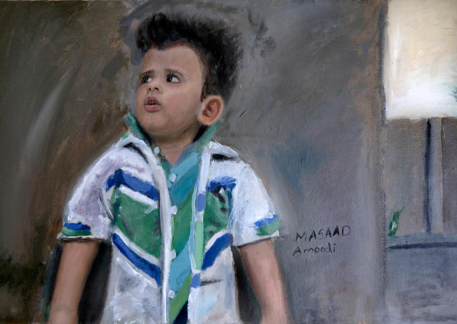 Portrait of my nephew Nawaf by masaad