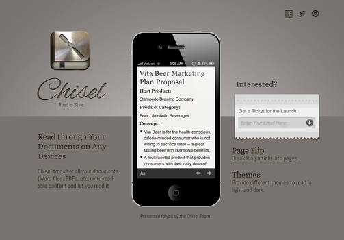 Chisel Landing Page