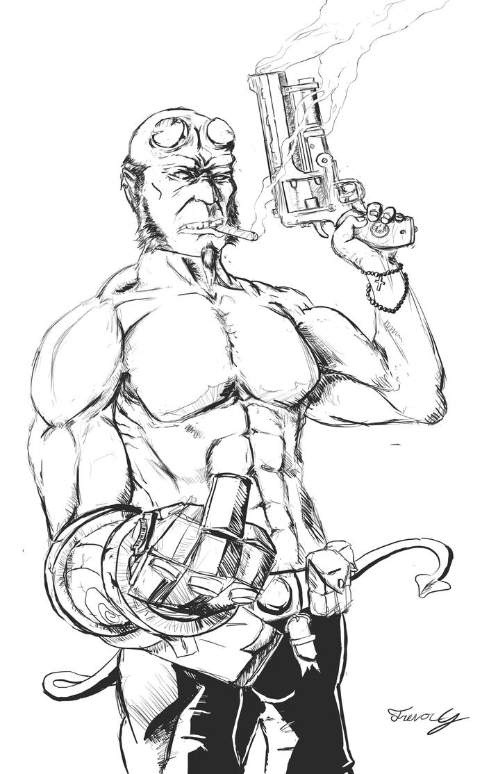 Hellboy by jipooki