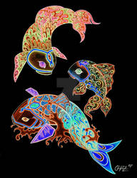Elemental Koi Inverted by Chazrael