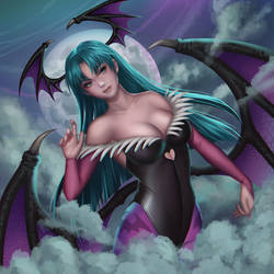 Morrigan Aensland by yoneyu by ppgrainbow