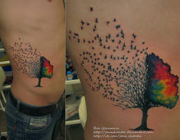 birds tree by janashantal