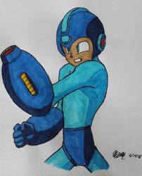 Mega Man by valkiriforce