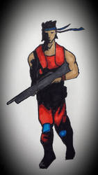 Contra - Lance Bean by valkiriforce