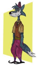 Big Brain Wolf! by valkiriforce