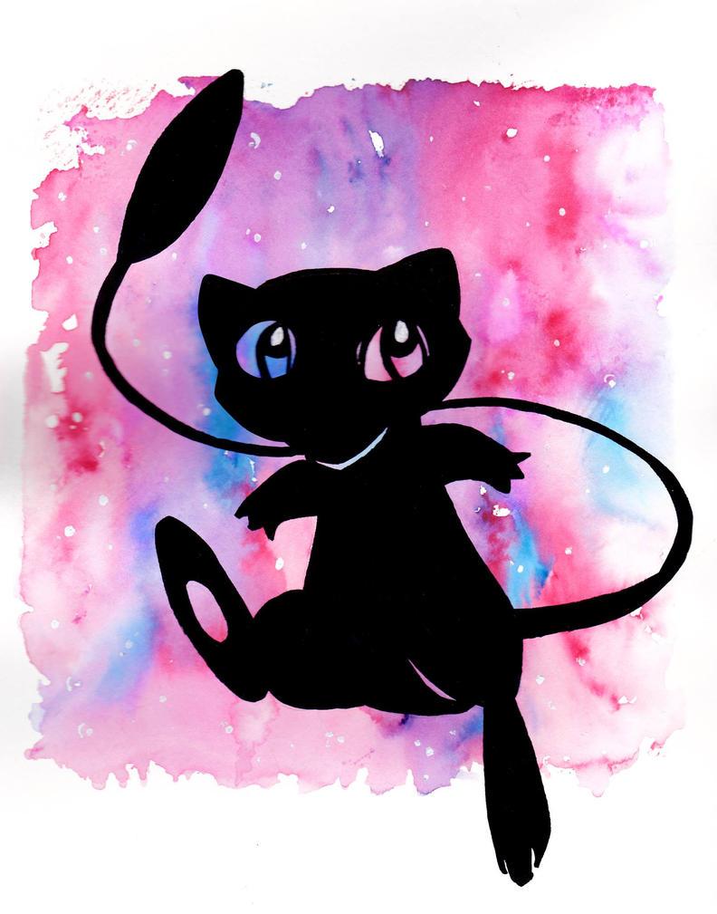 Mew Watercolor by NinjaSniperKitty