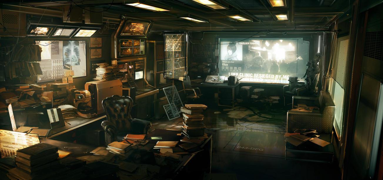 Deus Ex 3 office by Gryphart