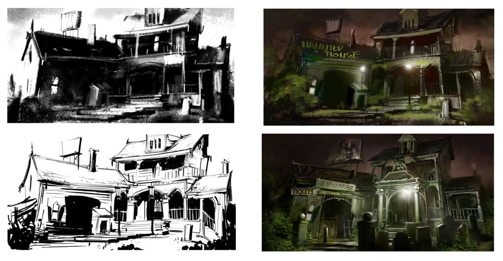 Haunted_House_Process_Step_02 by Gryphart