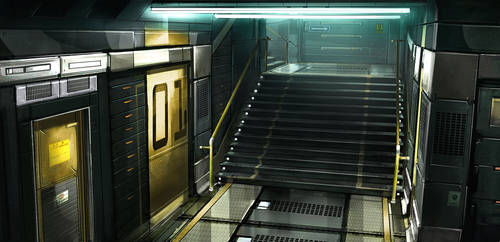 Deus ex 3 Stairscage by Gryphart