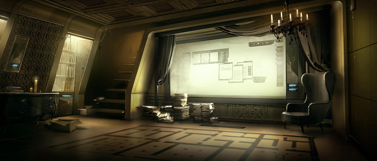 Bob Paige Office Deus Ex 3 by Gryphart