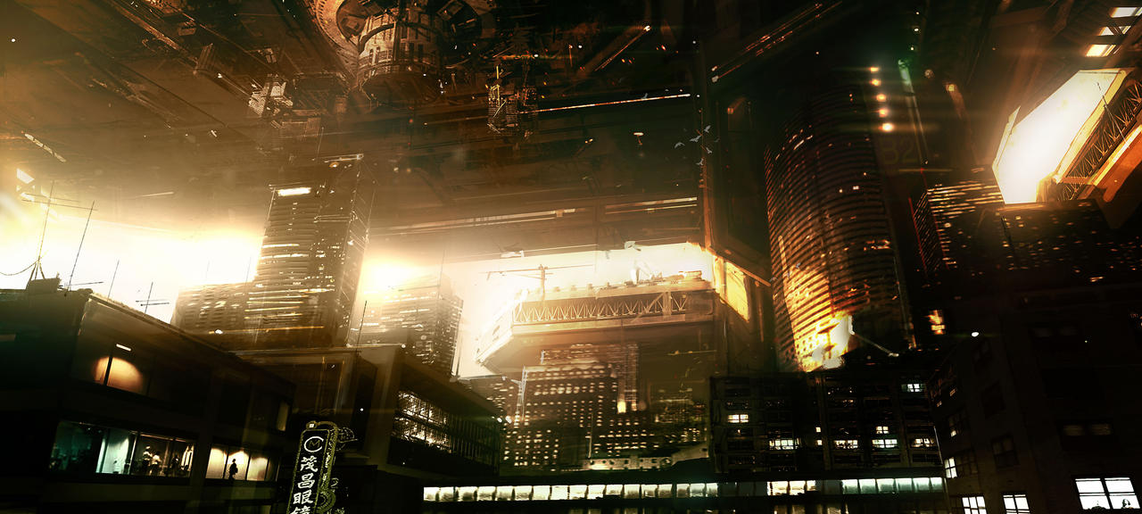 Lower Hengsha Deus Ex 3 by Gryphart