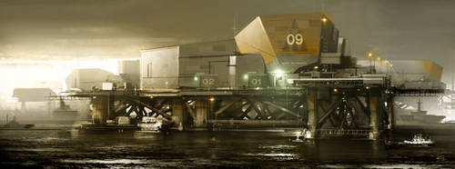 Belltower_SeaBase  Deus Ex 3 DLC by Gryphart
