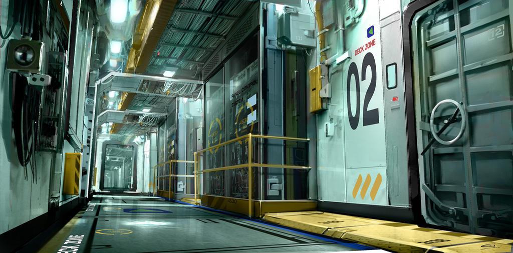Boat_Corridor Deus Ex 3 DLC by Gryphart