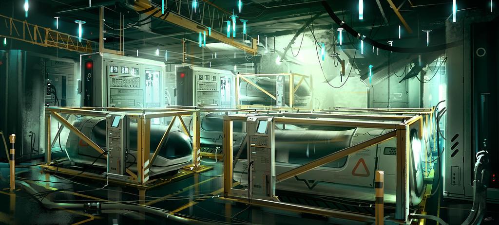 Boat_lifePod_Area Deus Ex 3 DLC by Gryphart