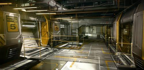 OceanBase_Belltower_Corridor Deus Ex 3 DLC