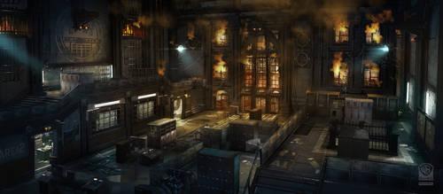 Batman Arkham Origins DLC Nightfall, BlackGate Pri by Gryphart